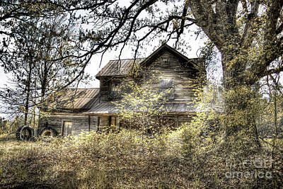 Rural Decay Digital Art - Golden Days by Sari Sauls