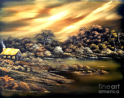 Painting - Golden Daze.sold by Cynthia Adams