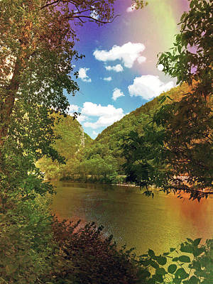 Photograph - Golden Delaware River  by Maggie Vlazny