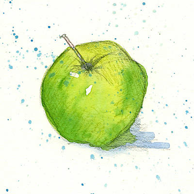 Painting - Golden Delicious Apple Study by Cathie Richardson