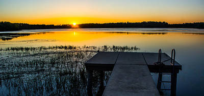 Photograph - Golden Dock Sunset by Shelby Young