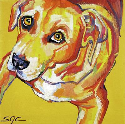Painting - Golden Dog by Sarah Gayle Carter