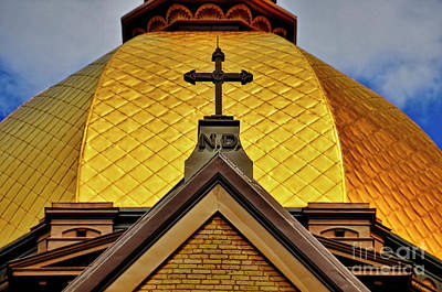 Photograph - Golden Dome Notre Dame by David Arment
