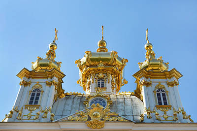 Photograph - Golden Domes Of Peterhof. by Terence Davis