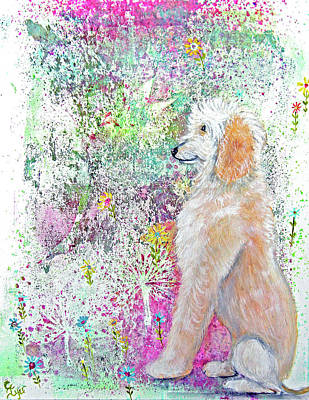 Wall Art - Painting - Golden Doodle by Carol Iyer