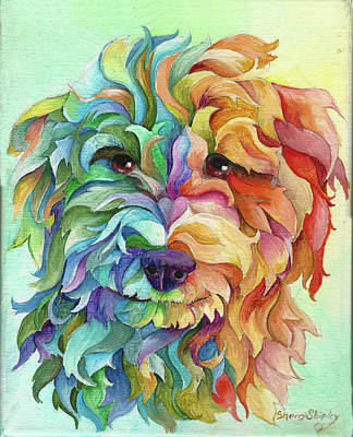 Painting - Golden Doodle by Sherry Shipley