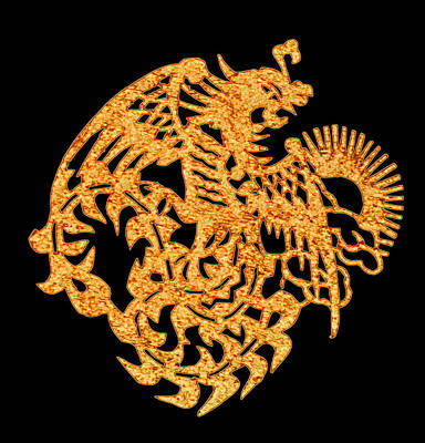 Digital Art - Golden Dragon by Stephanie Grant