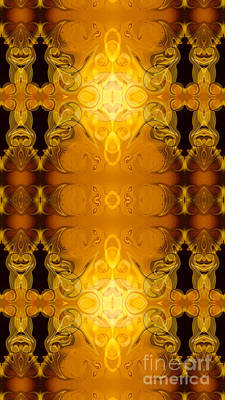 Digital Art - Golden Dreams Abstract Organic Bliss Art By Omaste Witkowski by Omaste Witkowski