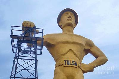 Golden Driller 76 Feet Tall Art Print
