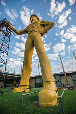 Photograph - Golden Driller Statue - Tulsa Oklahoma by Gregory Ballos