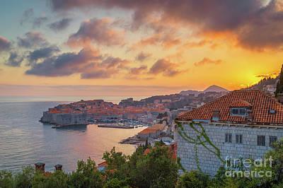 Photograph - Golden Dubrovnik by JR Photography