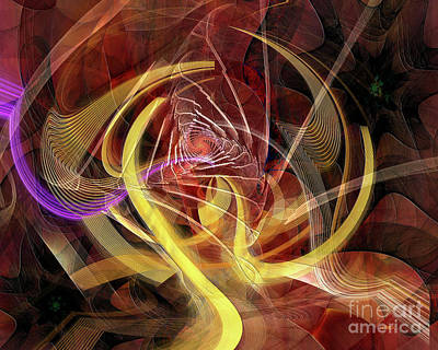 Digital Art - Golden Dynamic by John Beck