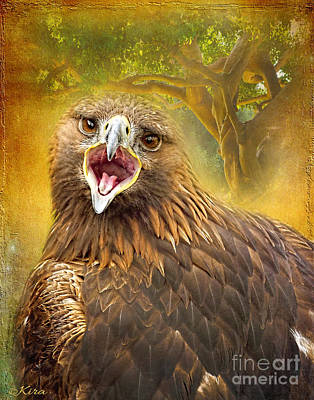 Photograph - Golden Eagle Call by Kira Bodensted