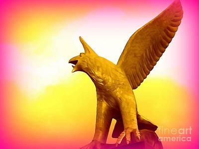 Digital Art - Golden Eagle by Ed Weidman