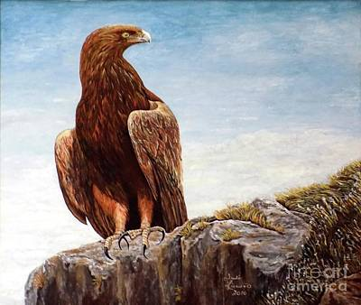 Painting - Golden Eagle by Judy Kirouac