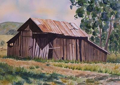 Painting - Golden Eagle Ranch Barn by Deane Locke