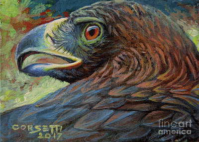 Painting - Golden Eagle by Rob Corsetti