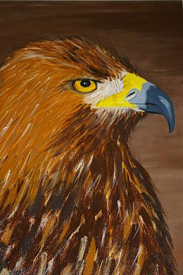 Eagle Cliff Painting - Golden Eagle by Veron Miller