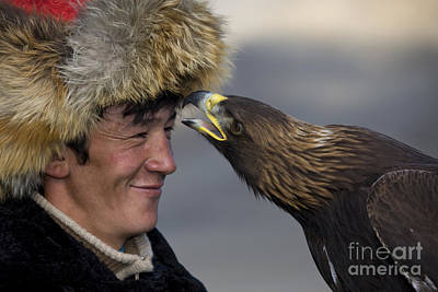 Photograph - Golden Eagle With Kazakh Falconer by Jean-Louis Klein and Marie-Luce Hubert