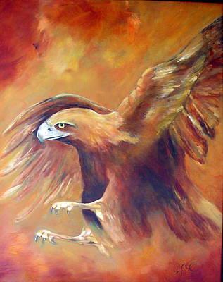 Golden Eagle Art Print by Zoe Landria