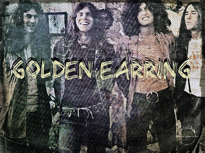 Digital Art - Golden Earring by Absinthe Art By Michelle LeAnn Scott