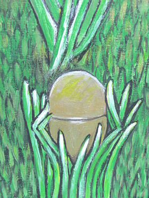 Becky Mixed Media - Golden Egg by Becky Jenney