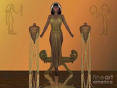 Digital Art - Golden Egyptian Princess by Corey Ford
