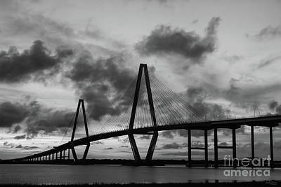 Photograph - Golden Evening At Arthur Ravenel Grayscale by Jennifer White