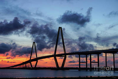 Photograph - Golden Evening At Arthur Ravenel by Jennifer White