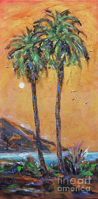 Painting - Golden Evening Palm by Linda Olsen