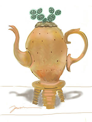 Painting - Golden Ewer by Jean Pacheco Ravinski