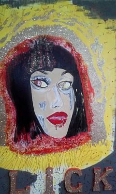 Mixed Media - Golden Eye by Nicole Burrell