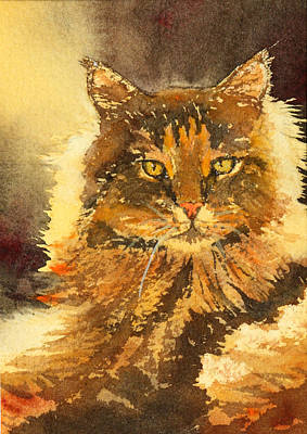 Painting - Golden-eyed Cat 2 by Ally Benbrook