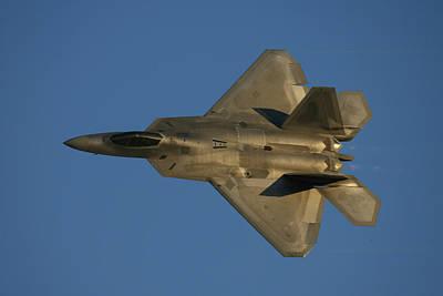 Photograph - Golden F-22a Raptor by John Clark