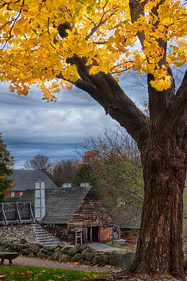 Photograph - Golden Fall Colors Over Iron Works by Jeff Folger