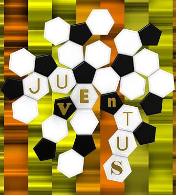 Turin Digital Art - Golden Fan Juve by Alberto RuiZ