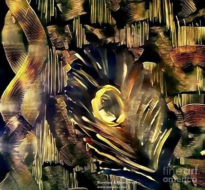 Golden Feather Art Print