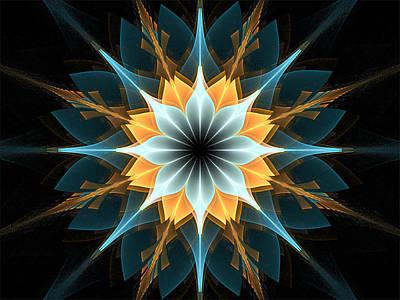Digital Art - Golden Feathers by Barbara A Lane