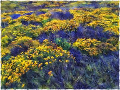 Digital Art - Golden Field by Jonathan Nguyen