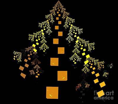 Digital Art - Golden Fir Tree by Kim Sy Ok