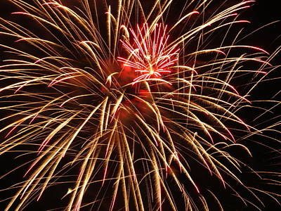 Photograph - Golden Firework Shower by Kyle West
