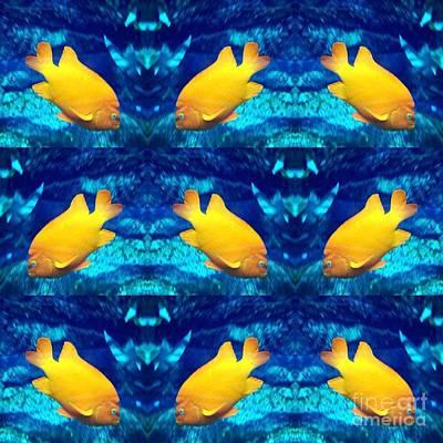 Photograph - Golden Fish Mirage by Susan Garren