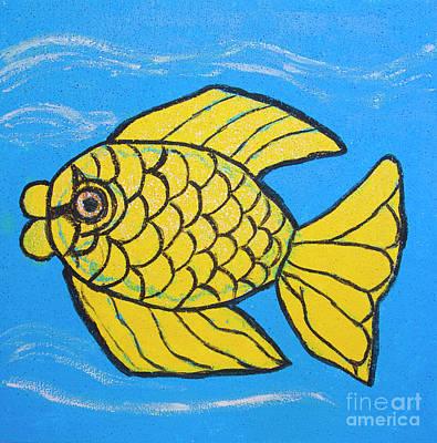 Painting - Golden Fish, Painting by Irina Afonskaya