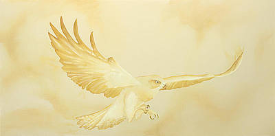 Monotone Painting - Golden Flight by Kristin Meyer