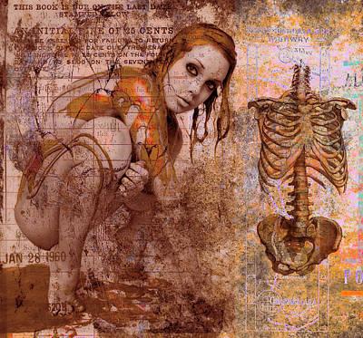 Golden Fluid Art Print by Adam Kissel