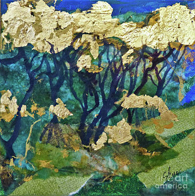 Mangrove Forest Painting - Golden Forest by Sharon Eng