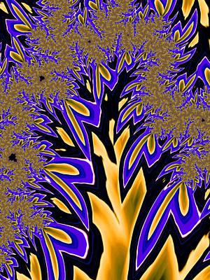 Photograph - Golden Fractal Tree by Ronda Broatch