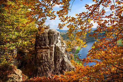 Photograph - Golden Frame. Saxon Switzerland by Jenny Rainbow