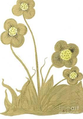 Drawing - Golden Garden  by Teresa White