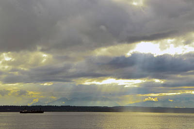 Photograph - Golden Gardens Sunset by Brian O'Kelly